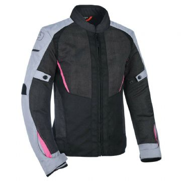 Oxford Iota 1.0 Air Women's Mesh Motorcycle Motorbike Jacket Black Grey & Pink